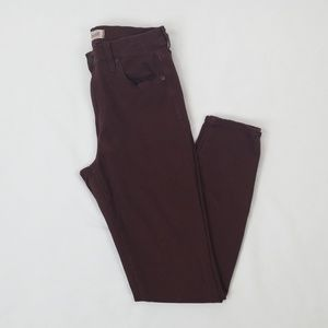 Madewell High Riser Skinny Maroon Color Size 27